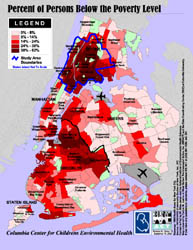 Nyc Map Gis.Weact Org Publications Gis Maps Percent Of Persons Below