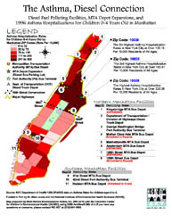 Nyc Map Gis.Weact Org Publications Gis Maps The Asthma Diesel Connection